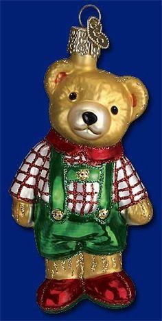 Ted E Teddy Bear Old World Christmas Ornament 12344 | eBay