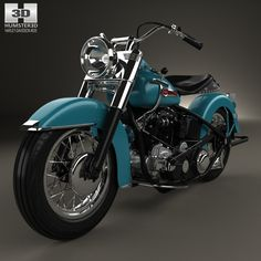Harley-Davidson Panhead Hydra-Glide E F 1949 3d model from humster3d.com. Price: $75