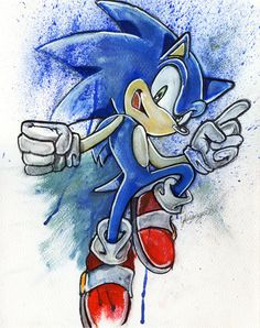 Sonic The Hedgehog by LukeFielding
