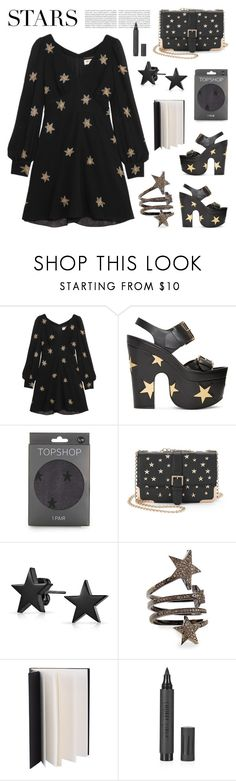 """""""Stars"""" by deepwinter ❤ liked on Polyvore featuring Yves Saint Laurent, STELLA McCARTNEY, Topshop, Kiss Me Couture, Bling Jewelry, Siena Jewelry and Oris"""