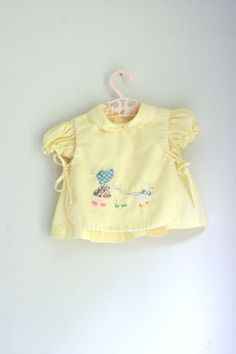Vintage baby girls dress by Nannette 3 to 6 months by fuzzymama on Etsy