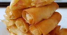 ΥΛΙΚΑ -450γρ φύλλο κρούστας -500γρ πατάτες βρασμένες -300γρ διάφορα κίτρινα τυριά που λιώνουν -200γρ ζαμπόν -2 αυγά -αλάτι, πιπέρι... Snack Recipes, Snacks, Starters, Chips, Food, Snack Mix Recipes, Appetizer Recipes, Appetizers, Potato Chip