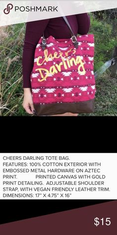 69c194e73e5 Cheers Darling Tote Bag Cheers Darling Tote Bag See All Details In Photo  Area ▫️PRICE