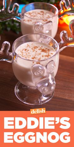 National Lampoon's Christmas Vacation fans, Eddie's Eggnog is boozy enough to help you survive your insane family. Get the recipe on . Christmas Drinks Alcohol, Christmas Cocktails, Holiday Cocktails, Christmas Parties, Fun Cocktails, Xmas Party, Orange Creamsicle, Cool Whip, Eggnog Rezept