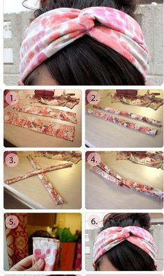 How do you make a turban? Comment faire, fabriquer un turban? How does ma .- How do you make a turban? Comment faire, fabriquer un turban? How to make a turban headband www.accessoiresc Women& jewelry and accessories Sewing Hacks, Sewing Tutorials, Sewing Crafts, Sewing Diy, Sewing Lessons, Diy Crafts, Turban Headbands, Diy Headband, Turban Bandana