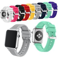 Silicone Sports band strap for Apple Watch Series 1 and Series 2 Band 38mm 42mm for Apple Sport smart watch band | Dream Jewelry Place. Find Earring, Necklace, Rings and More.