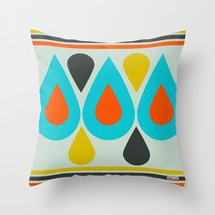 This decorative pillow will add a touch of happiness to any room!  Its an original design by ©thegretest.  Throw Pillow Cover made from 100% spun