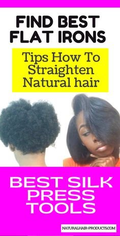 Click to see here....  Get your heat styled hairstyles for Black women poppin'! Find products for the best way to get women and kids hair strait with flat irons for styling. Healthy tips at home for a natural hair silk press... Pressed Natural Hair, Natural Hair Twists, Natural Hair Styles For Black Women, Short Hair Styles, Type 4c Hairstyles, Black Hair Magazine, Thick Coarse Hair, Type 4 Hair, Flat Irons