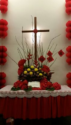 CNY  church flower arrangement