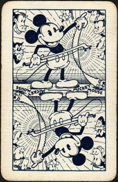 Vintage Micky Mouse playing card