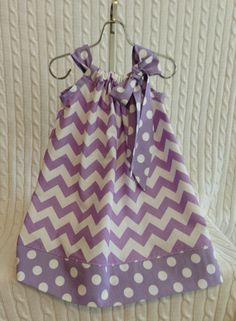 Chevron Purple Pillow Case Dress