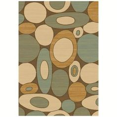 Dynamic Rugs Eclipse Brown-Blue 67002 Area Rug