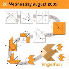 Origami Angel Step By Diagram Dual Battery Wiring Boat 94 Best Easy Images Instructions Angelfish Tree Fish Paper Art Gato Diagrams