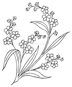 drawings to paint / embroider Embroidery Flowers Pattern, Hand Embroidery Designs, Vintage Embroidery, Ribbon Embroidery, Beaded Embroidery, Cross Stitch Embroidery, Outline Drawings, Pattern Illustration, Fabric Painting