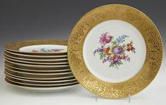 Set Of Twelve Porcelain Plates, 20th C., By Schumann, B : Lot 1445