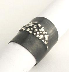 Oxidized Silver Ring: Dennis Higgins: Silver Ring | Artful Home