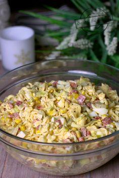 Sałatka z makaronem chińskim i jajkami – Smaki na talerzu Kraut, Pasta Salad, Food Inspiration, Quinoa, Potato Salad, Food And Drink, Potatoes, Vegetables, Ethnic Recipes