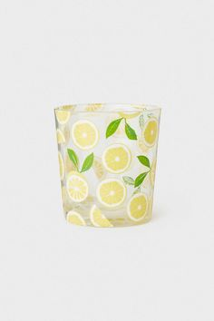 Printed Beverage Glass | Clear glass/lemons | H&M HOME | H&M US