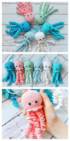 Rainbow Crochet, Easy Crochet, Free Crochet, Crochet Crafts, Crochet Baby, Crochet Projects, Minion Crochet, Octopus Crochet Pattern Free, Crochet Amigurumi Free Patterns