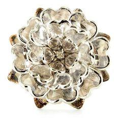 Silver Metal Flower Knob