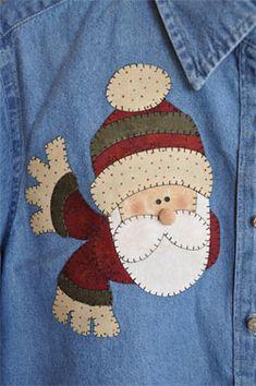 Free Patternlet Ideas - cute applique Santa