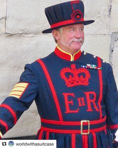 Hei there handsome. ( beefeater on duty at the tower of london Instagram Feed, Instagram Posts, Tower Of London, Captain Hat, Handsome, England, Tops, Fashion, Moda