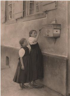 """""""Happy New Year"""" (Posting a Letter), 1894 Photo by Alfred Stieglitz"""