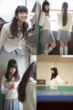 seifuku: komatsu—nana: (via [GIRLS] 「PROTO STAR 小松菜奈」Vol.5-7 × 「PROTO STAR 吉倉あおい」Vol.1-3 | テンズライヴス-tenslives) Fan Fiction, Nana Komatsu Fashion, Komatsu Nana, Cute Poses, Cute Japanese, Japan Girl, Asia Girl, Japanese Models, School Fashion