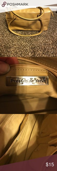 Preston & York Purse Preston & York Purse, man made leather, used condition, does show signs of wear, mainly inside and on bottom (see pics) reflected in price, perfect for spring, Make an Offer!!! BUNDLE AND SAVE $$$ Preston & York Bags Shoulder Bags