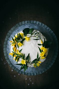 coconut tres leches cake by Beth Kirby | {local milk}, via Flickr   I LOVE THE FLOWERS