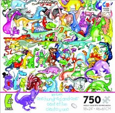 One Hundred and One  Hundred Dinosaurs and an Egg Jigsaw Puzzle Ceaco http://www.amazon.com/dp/B00D2QFHFW/ref=cm_sw_r_pi_dp_GEQRwb1MPH7WF