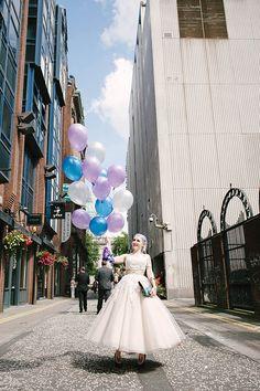 A Low Key Belfast Wedding & A Bride with Lilac Hair: Terri & Garreth