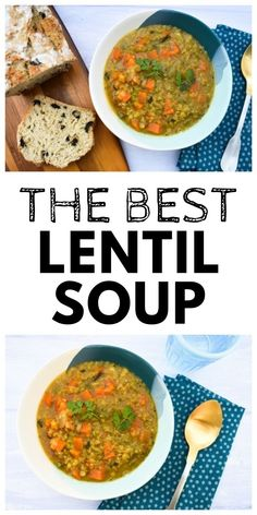 Lentil soup is so hearty, filling and delicious. This broccoli, carrot and red lentil soup is one of the best. It's healthy, low calorie and will fill you up. Broccoli And Carrot Soup, Carrot And Lentil Soup, Easy Cooking, Healthy Cooking, Cooking Recipes, Delicious Vegan Recipes, Vegetarian Recipes, Healthy Recipes, Burns Night Recipes