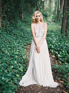 Moody Forest Wedding Inspiration - Alexandra Grecco Amelia Gown