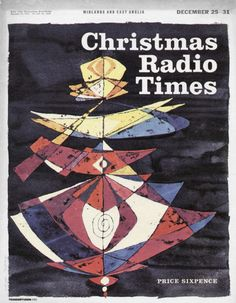 Radio Times Midlands and East Anglia December 1965 Christmas Cover, Tv Times, December 25, Magazine Covers, Magazines, British, Poster, Journals, Posters