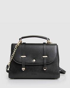Camila & Me Cross-Body Bag - Black - Belle & Bloom Leather Crossbody, Leather Bag, Crossbody Bag, Popular Backpacks, Pink Color, Colour Black, Cross Body, Blush Pink, Dust Bag