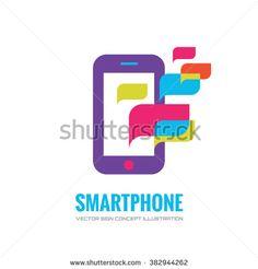 Smartphone vector logo concept illustration. Mobile phone vector logo creative illustration. Mobile technology logo. Cellphone logo. Mobile phone logo design. Vector logo template. Design element.