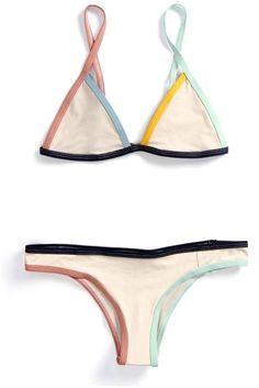 Triangle bikini | Multi colored | Swimwear @TheLovisa