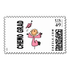 Pink CHEMO GRAD 1 (Breast Cancer) Postage Stamp. This great business card design is available for customization. All text style, colors, sizes can be modified to fit your needs. Just click the image to learn more!