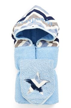 Infant Boy's Bibz N Thingz Personalized Hooded Towel, Size One Size - Blue Having A Baby Boy, Baby Boy Or Girl, Baby Kids, February Baby, Baby In Snow, Kids Beanies, Snow Outfit, Baby Girl Shower Themes, Baby Must Haves