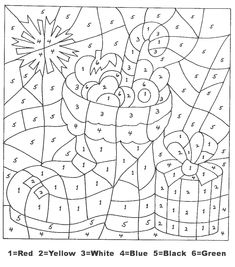 Christmas Color By Numbers - Best Coloring Pages For Kids Free Printable Coloring Pages, Coloring For Kids, Coloring Pages For Kids, Coloring Books, Colouring, Coloring Sheets, Holiday Crafts For Kids, Christmas Activities, Xmas Crafts