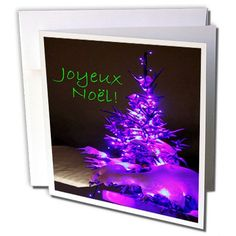 Yves Creations Pretty Christmas Tree - Pretty Christmas Tree Joyeux Noel in Purple with Green Text - 1 Greeting Card with envelope (gc_8763_5) 3dRose http://www.amazon.com/dp/B017KRGZZE/ref=cm_sw_r_pi_dp_4AQqwb0SXZK6Z