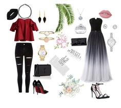 """""""my girls"""" by aliza-ahmed on Polyvore featuring Anna October, River Island, Christian Louboutin, Yves Saint Laurent, Movado, Isabel Marant, Accessorize, Boohoo, Kate Spade and Kobelli"""