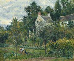 La maison Rondest et son jardin à l'hermitage, Pontoise(1878) - Camille Pissarro