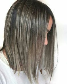 Hair Color Balayage, Blonde Color, Hair Highlights, Ash Brown Hair, Brown And Grey, Corte Y Color, Going Gray, Trendy Hairstyles, Cut And Color