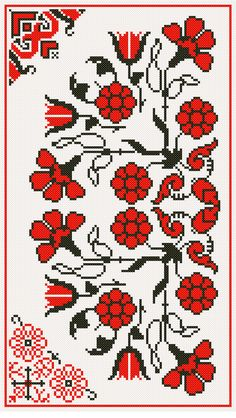 Cross Stitch Pattern.I know but you can use them as well for Crochet jaqcuard.