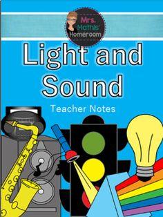 Module sur la lumière et le son (French Light and Sound Unit) Teacher Notes, My Teacher, Ontario Curriculum, Learning Goals, Research Projects, Teaching Science, Interactive Notebooks, Rubrics, Lesson Plans