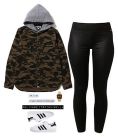 """""""100% recommend listening to bryson tiller. thank me later:)"""" by itscindyrella ❤ liked on Polyvore featuring adidas, adidas Originals, Casio and plus size clothing"""