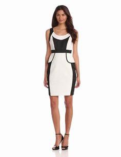 Amazon.com: Jax Women's Colorblock Peplum Dress: Clothing