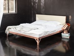 Remodelista favorite Piet Hein Eek has collaborated with Dutch bedding line Yumeko to design three handmade beds in copper, oak, and powder-coated steel.